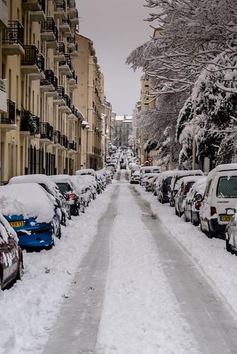 Rue Jaubert with snow | by Bernard Ddd