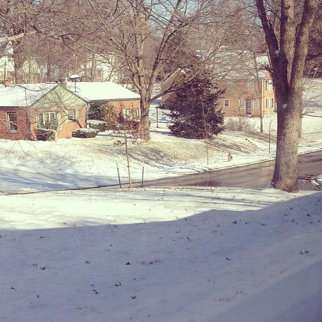 ❄️ It snowed at my house last night.
