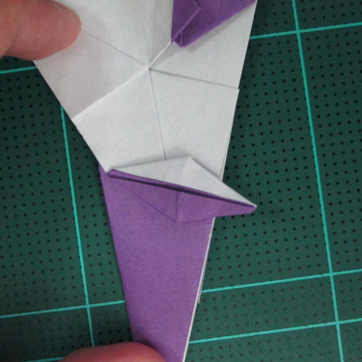 วิธีพับกระดาษเป็นรูปนกอินทรี (Origami Eagle) 025