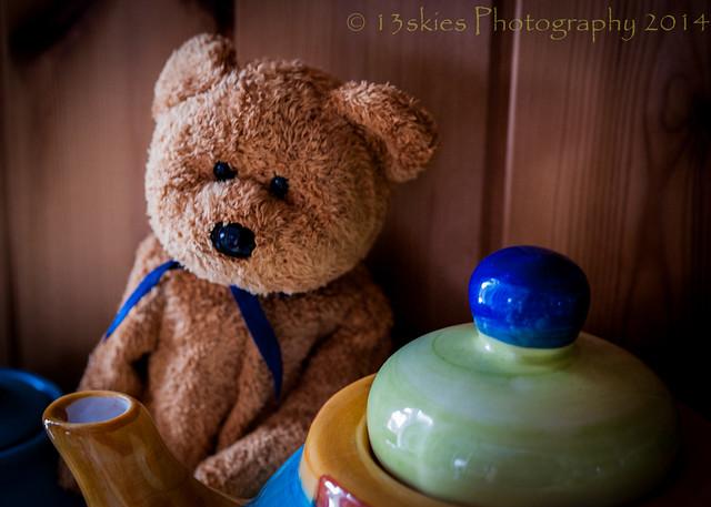 A spot of tea. Tedward the eddy bear loved hiding in the tea cabinet.