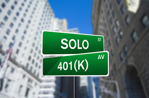 Solo 401(k) Wall Street Sign | by investmentzen
