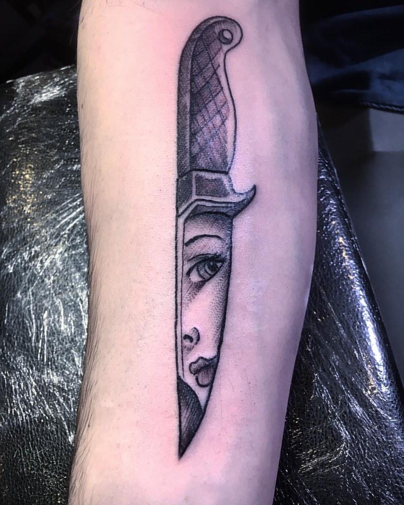 Knife Tattoo Tattoorockfestival Parma Inkedmag Knifeta