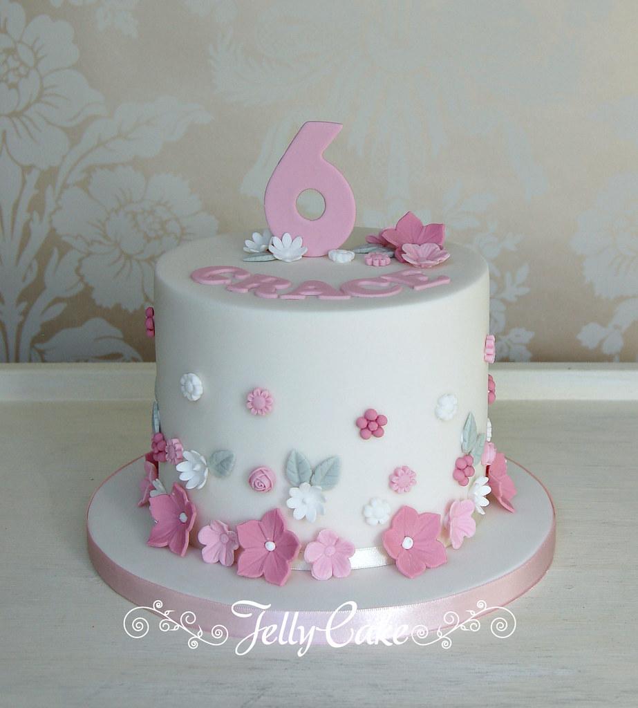 Tremendous Flower Girl Birthday Cake A Cute Flower Girl Birthday Cake Flickr Funny Birthday Cards Online Bapapcheapnameinfo