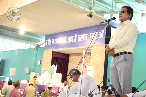 Devotee from Nepal, N.B. Batla from Tikapur, expresses his views