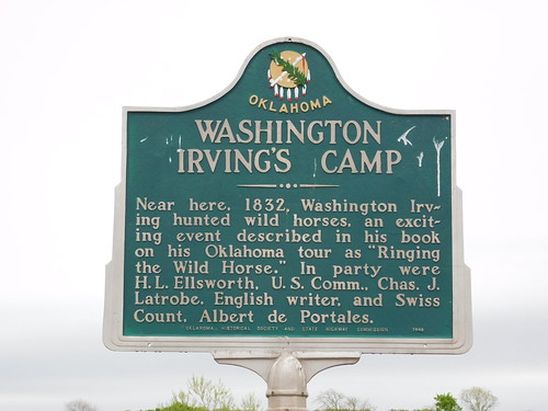 Washington Irving's Camp Historic Marker