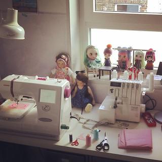 Dolls - always a good accompany when you work :)