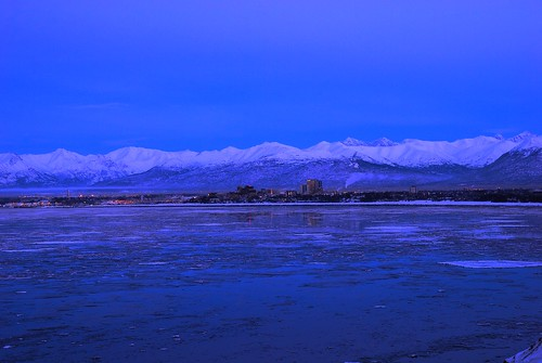 sunset alaska night clear anchorage cookinlet outstandingromanianphotographers pwwinter