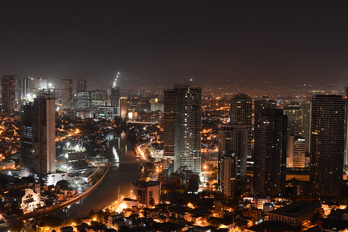 Makati from above with the mighty D800 | by Mashhour Halawani