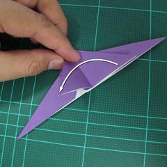 วิธีพับกระดาษเป็นรูปนกอินทรี (Origami Eagle) 015