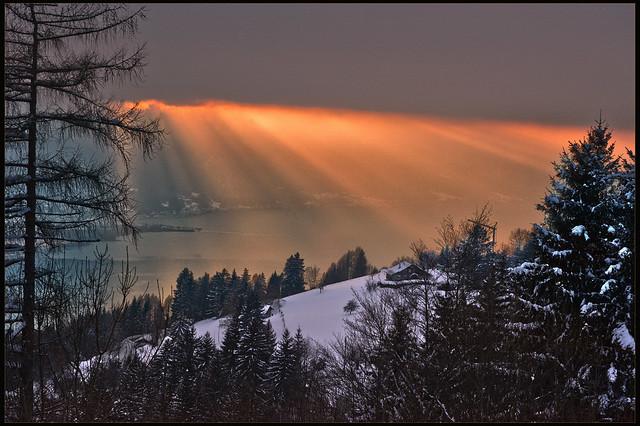 Winter Twilight time . Allons voir un coucher de soleil  . No. 6531.