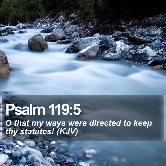 Image result for psalm 119:5 kjv
