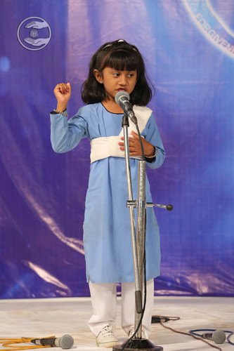 Child devotee expresses her views