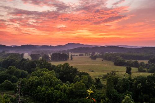 landscape sunset hotspringsvillage arkansas unitedstates