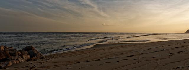 Pêcheur de l'aube à FIGUEIRINHA au PORTUGAL