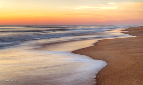 beach clouds landscape nagshead northcarolina ocean outerbanks sunrise water unitedstates us