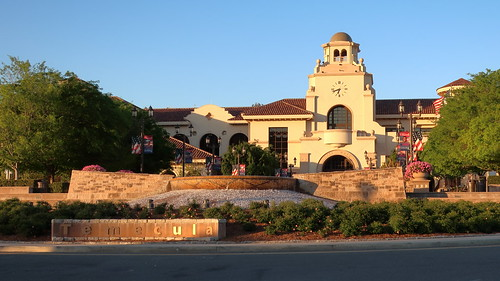 170410 515 Old Town Temecula - Temecula Civic Center on Main St, built in 2010 in the Spanish Revival style