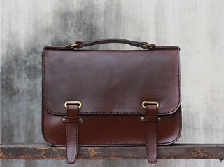 handmade leather briefcase | by JooJoobs.Etsy.com
