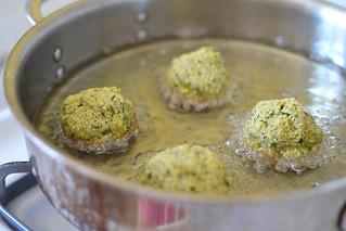 Homemade Falafel with Yogurt-Tahini via LittleFerraroKitchen.com | by FerraroKitchen1