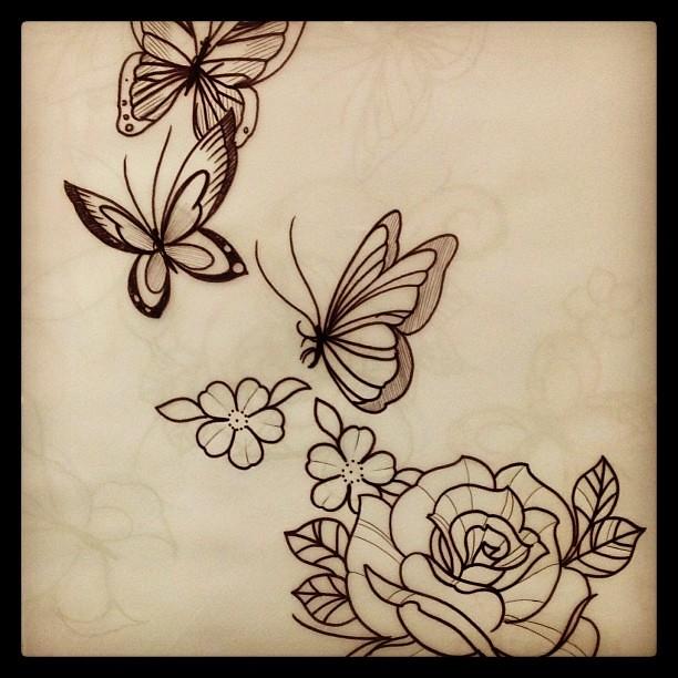 Desenhos Sketch Tattoo Tatuagem Tattoogirl Girlstatt Flickr