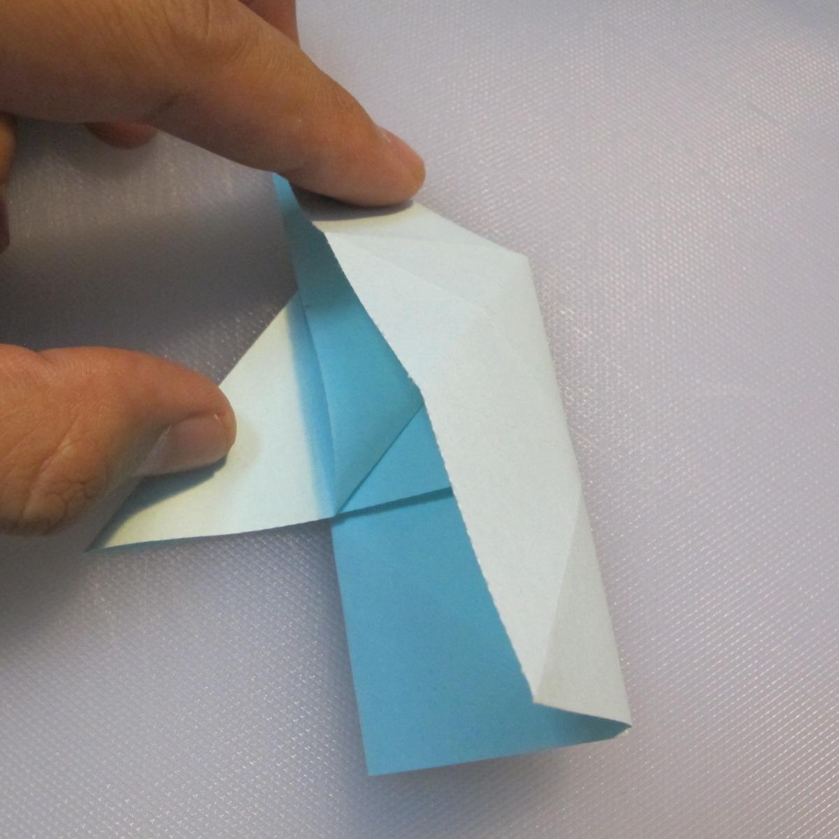 การพับกระดาษรูปดาวกระจาย (Star Origami – スターの折り紙) 011