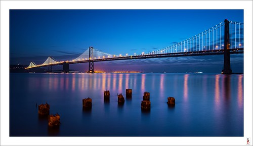 sanfrancisco seascape water sunrise dawn nikon shoreline baybridge d90 stephenbird