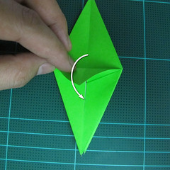 วิธีพับกระดาษเป็นจรวด X-WING สตาร์วอร์ (Origami X-WING) 019