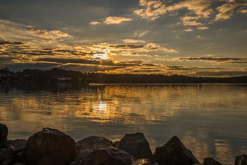 lake landscape sunset hotspringsvillage arkansas unitedstates