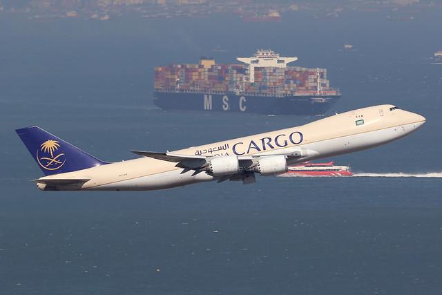 HZ-AI4 747-8F Saudia Cargo