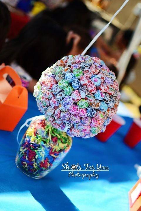 Lollipop Table Centerpiece | This amazing Dum Dum lollipop c… | Flickr