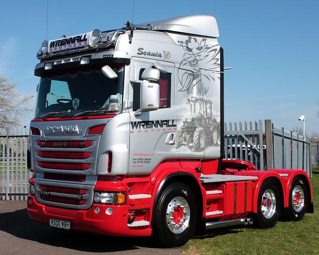 Wrennall Brothers Scania R500 V8 R500 WBH at Truckfest Peterborough 2013 UK