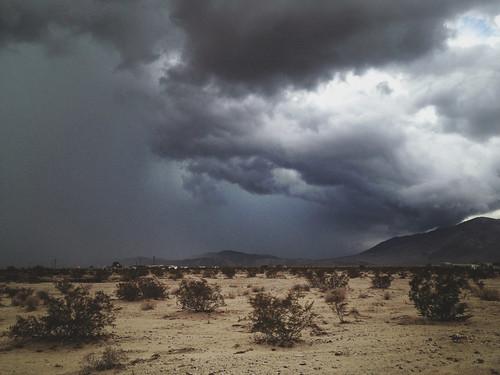 storm clouds desert joshuatree iphone