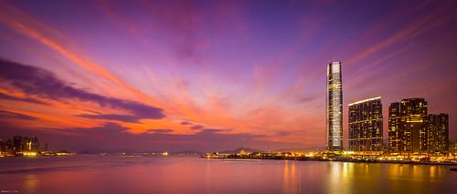 sunset hongkong tsimshatsui typhoon usagi harbourcity 天兔