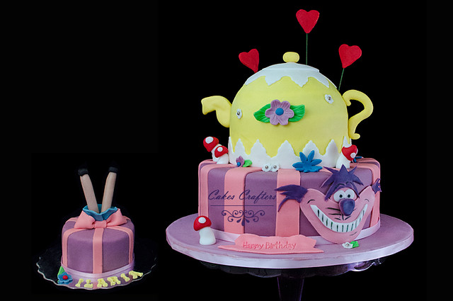 Alice in Wonderland Tea Pot Cake