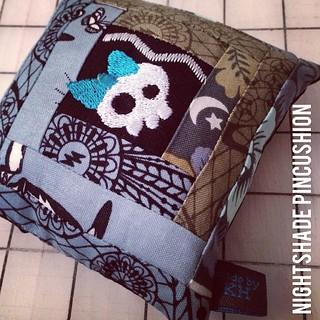 #pimcushion i made for my #urhereswap partner! #tulapink #nightshade