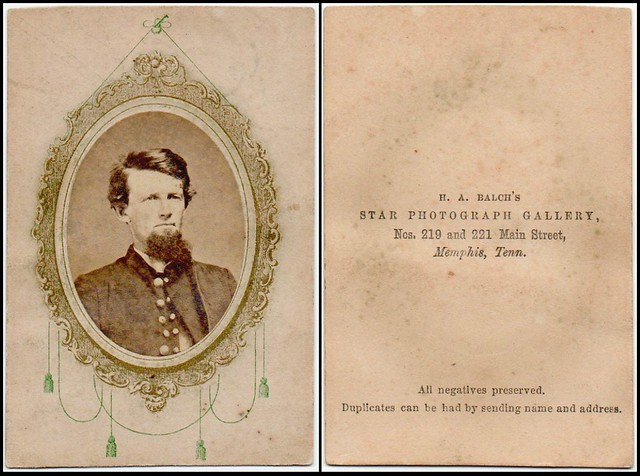old Memphis cartes de visite, cabinet cards, and other old image types