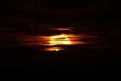 Sunset behind the clouds, Madhiriguraidhoo, Lhaviyani Atoll, Maldives