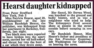4th February 1974 - Patty Hearst kidnapped | by Bradford Timeline