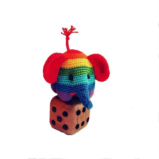 Hue the Rainbow Elephant Amigurumi Crochet Pattern - English ... | 628x628