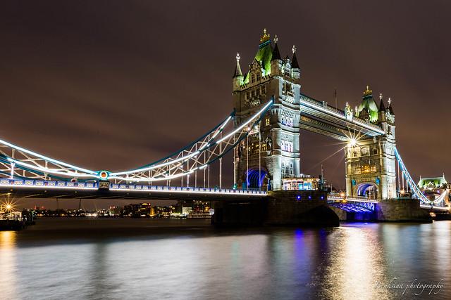Under the tower bridge - London.