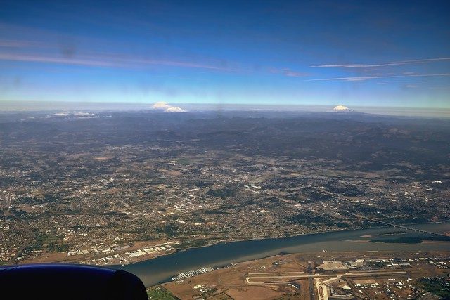 The Columbia River, an Airport and a Few Stratovolcanoes