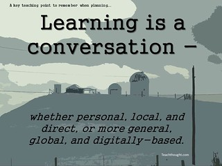 "Education Postcard:  ""Learning is a conversation"" 