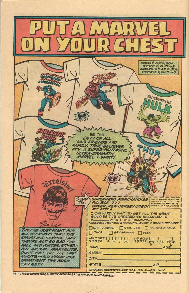 5dd3018f Marvel Comics T-Shirts - Comic Ad | I'm lovin that Stan Lee … | Flickr