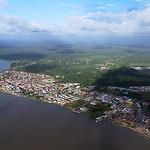 Vue aérienne de la ville de Saint-Laurent du Maroni