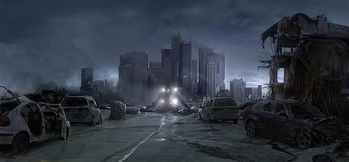Post-Apocalyptic city   by zoefanlol