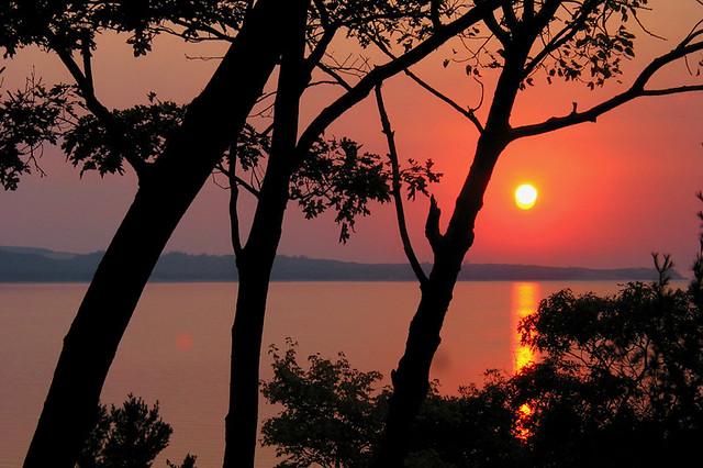 Sunset over Sleeping Bear Point, Glen Arbor, MI, 2003