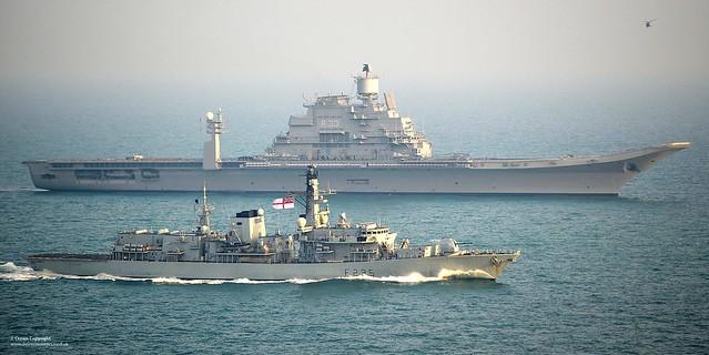 HMS Monmouth with INS Vikramaditya