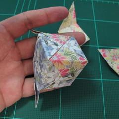 การพับกระดาษเป็นรูปเรขาคณิตทรงลูกบาศก์แบบแยกชิ้นประกอบ (Modular Origami Cube) 027
