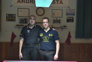 Carpi 5^ prova COPPA DELLE COPPE 23 FEBBRAIO 2014 i due finalisti da sx Fabrizi Germano - Ribani Andrea