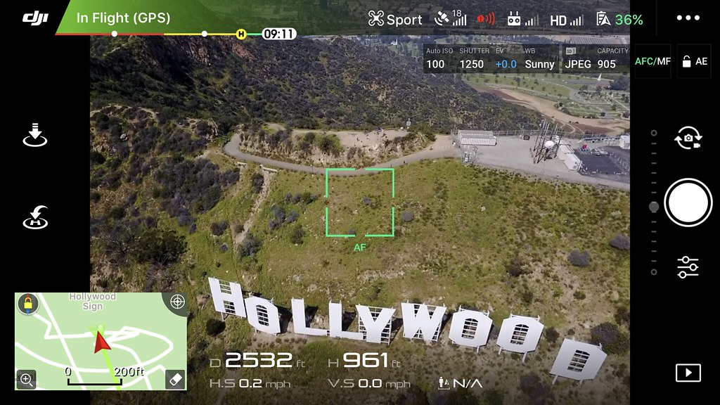 DJI Go 4 iOS Screenshot - Hollywood Sign | Screenshot of the… | Flickr