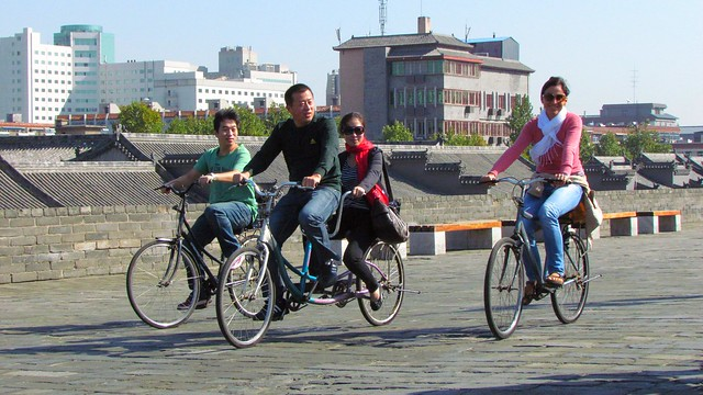 Selfie bike with intruders ...